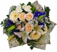 BLanka-62 White and blue bouquet