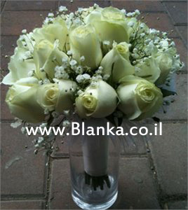 wedding bouquet whte roses Avilange
