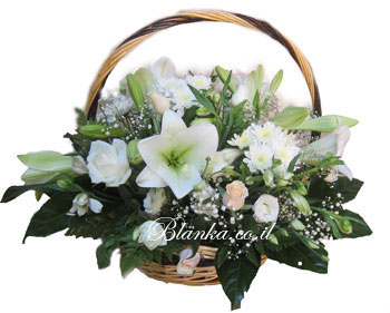 Basket with Lilies Sidur BLANKA-3