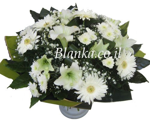Classic White Flower Bouquets Blanka-7