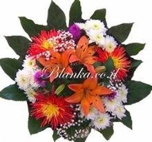 BLanka-24 White orange bouquet