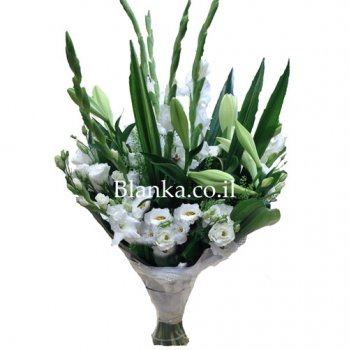 High White Bouquet Gladiouses