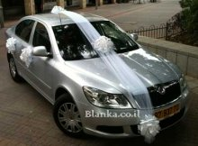 wedding car white decorations
