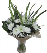 BLanka-34 Tall White Bouquet