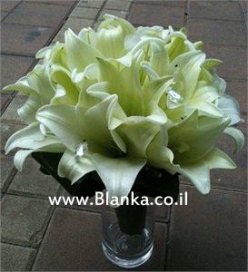 white lilies wedding bouquet - ₪0 : Blanka flowers shop, Flowers ...