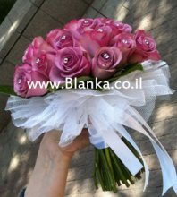 dark pink wedding bouquet